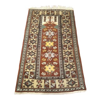 1950's Vintage Turkish Wool Prayer Rug - 3′9″ × 6′3″ For Sale