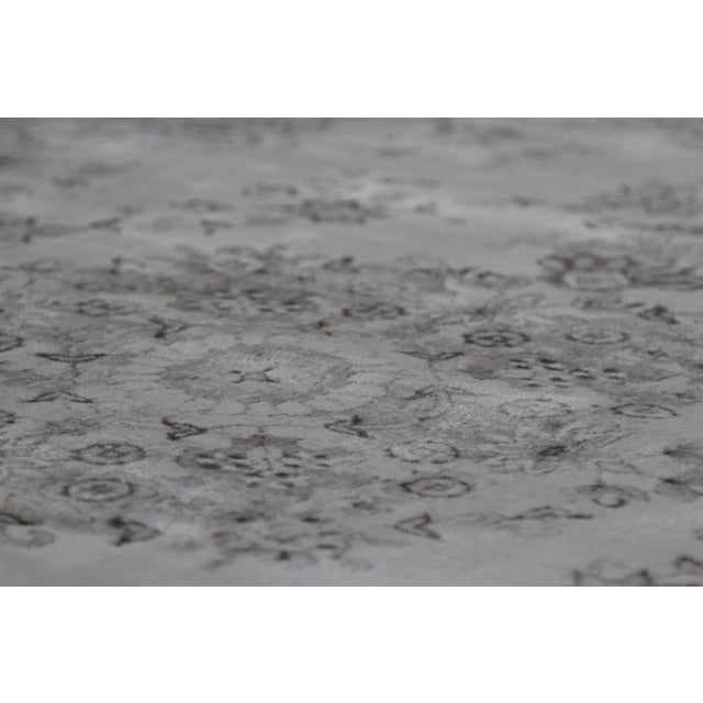 Plastic Transitional Distressed Gray Rug - 5'3'' x 7'7'' For Sale - Image 7 of 8