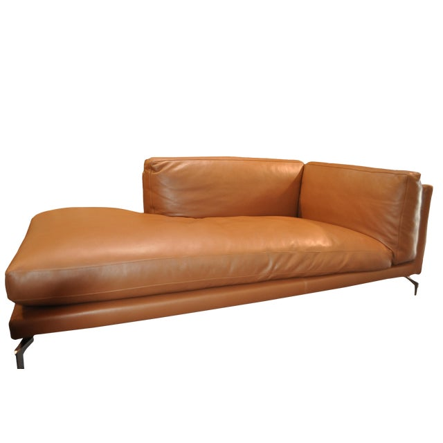 Modern Design Within Reach Leather Lounge Sofa
