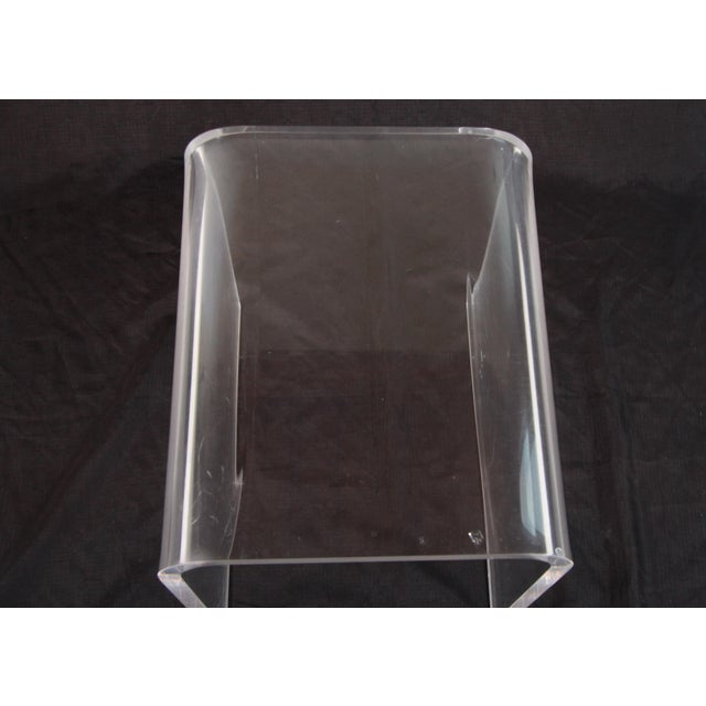 Shlomi Haziza Lucite Nesting Tables - Set of 3 For Sale - Image 10 of 12