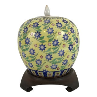 Hand Painted Chinese Jar For Sale