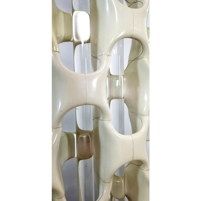 1960s Mid Century Richard Harvey Contemporary 'Sculpta-Bone Grille' Screen For Sale In Los Angeles - Image 6 of 13