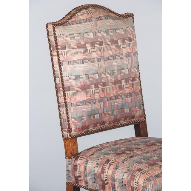 1920s Louis XIII Style Upholstered Walnut Chairs - Set of 6 For Sale In Austin - Image 6 of 13