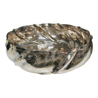 "Artisan Crafted Vintage Silver Italian ""Swirl"" Bowl For Sale"