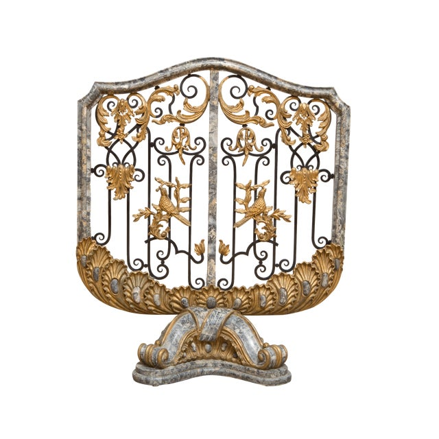 Antique Marble Fireplace Screen - Image 1 of 8