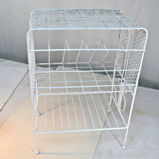 Metal 1960s Vintage Metal Music or Magazine Stand For Sale - Image 7 of 9