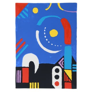 """""""The Signal"""" Abstract Roof Serigraph by Kyohei Inukai (Aka Earle Goodenow) For Sale"""