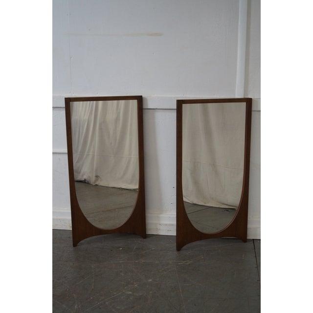 Broyhill Brasilia Mid-Century Walnut Wall Mirrors - A Pair - Image 2 of 10