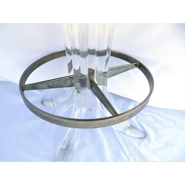 Vintage 1970's Hill Manufacturing Acrylic Bar Stools - Set of 4 For Sale - Image 11 of 13