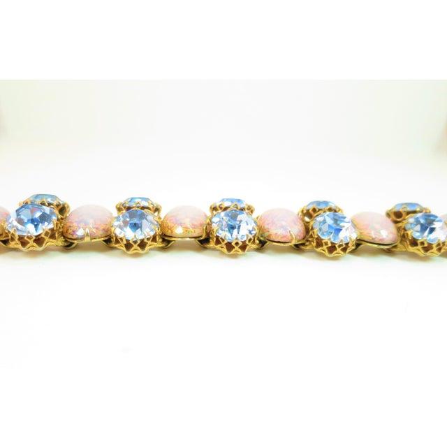 1950s Schiaparelli Opal Art Glass Bracelet Suite 1950s For Sale - Image 5 of 13
