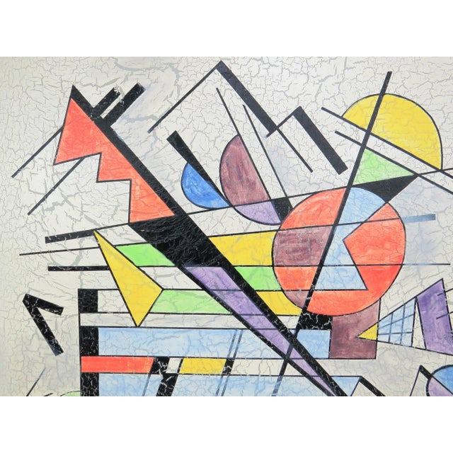 Lee Reynolds 1980s Lee Reynolds Large Abstract Painting in the Style of Wassily Kandinsky For Sale - Image 4 of 11
