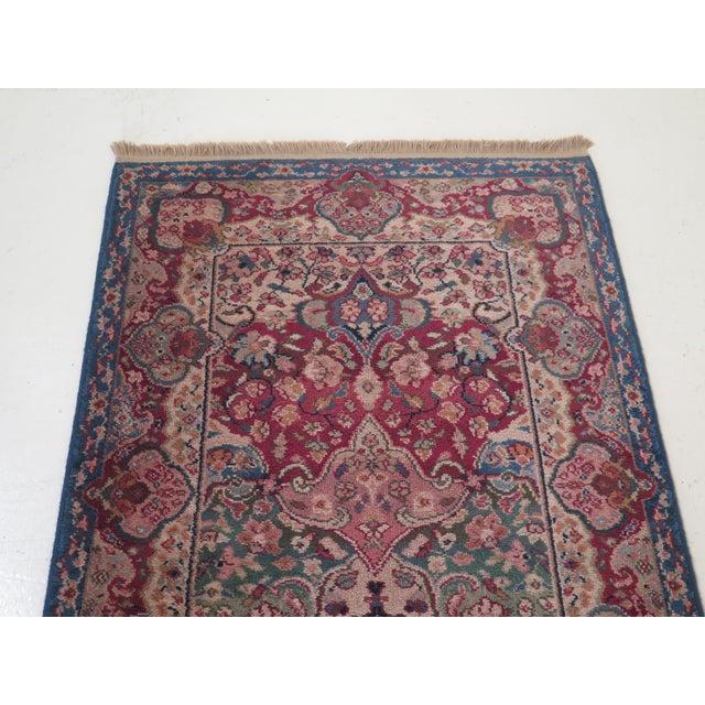 Traditional Vintage Karastan Kirman Panel Throw Rug- 2′11″ × 6′ For Sale - Image 3 of 9
