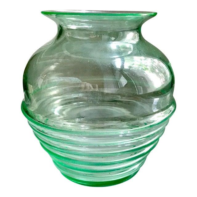 Antique Depression Or Uranium Green Glass Vase Chairish