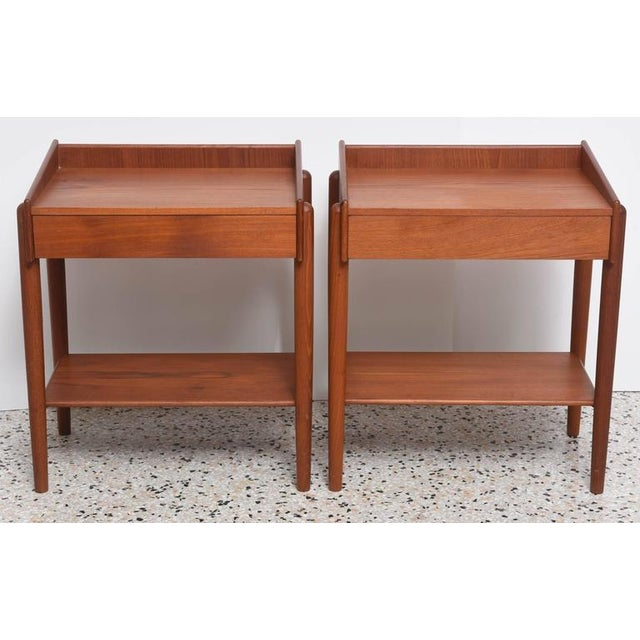 Brown 1960s Danish Teak Side Tables by Borge Mogensen for Soberg Moblefabrik - a Pair For Sale - Image 8 of 11