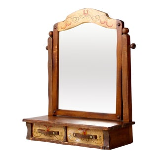 Monterey Style Dresser Top Cabinet Vanity Mirror For Sale