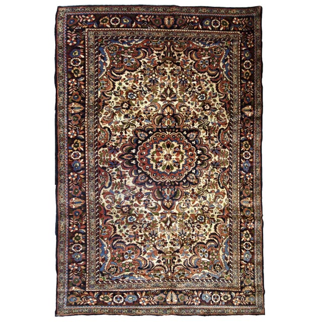 1900s, Handmade Antique Persian Sarouk Rug 3.1' X 5.2' For Sale - Image 12 of 12