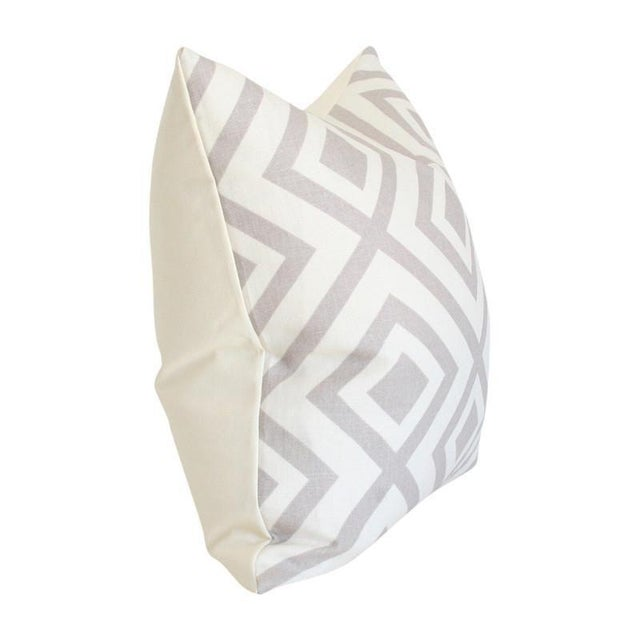 Fabric Details: 100% linen Pattern on front and solid 100% ivory cotton on back Invisible zipper closure Care:...