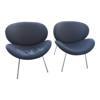 Mid Century Modern Pierre Paulin Style Slice Chairs- a Pair For Sale