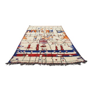 "Moroccan Abstract Rug- 7'3"" x 10'7"" For Sale"