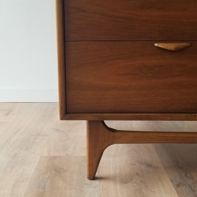 1960s Lane Perception Four Drawer Dresser With Mirror For Sale - Image 10 of 13