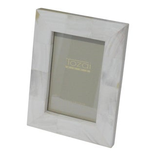 Modern Tozai Desk Photo Frame in Mother of Pearl With Original Fitted Gift Box For Sale