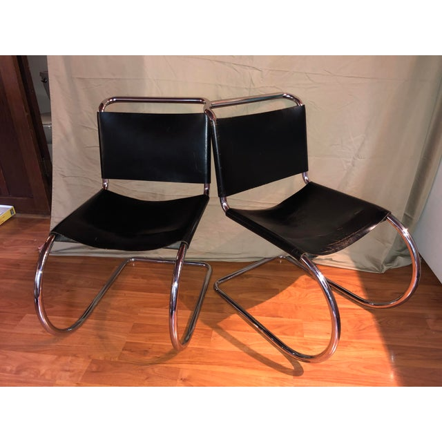Vintage Pair of Mr 10 Chairs by Ludwig Mies Van Der Rohe For Sale - Image 10 of 10