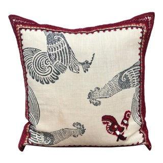 Ankasa Hand Embroidered Throw Pillow For Sale