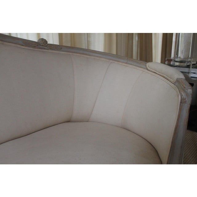 Mid 19th Century 19th Century Vintage Louis XVI Style French Settee For Sale - Image 5 of 9