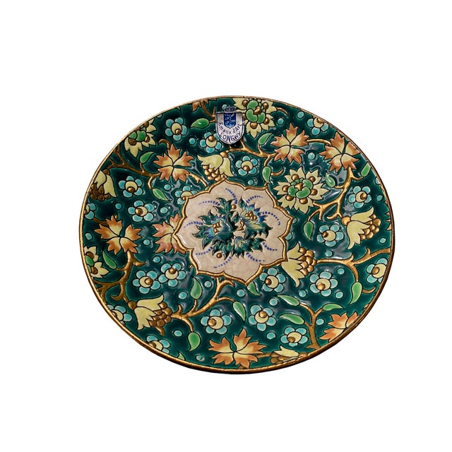 Green French De Longwy Small Plate For Sale - Image 8 of 8