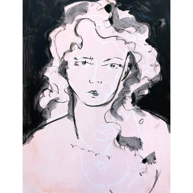 Contemporary Ali Pink Pose Drawing by Heidi Lanino For Sale - Image 3 of 3