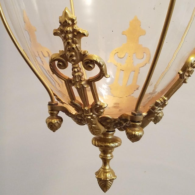 19th Century Apothecary Globe Pendant For Sale In Greensboro - Image 6 of 8