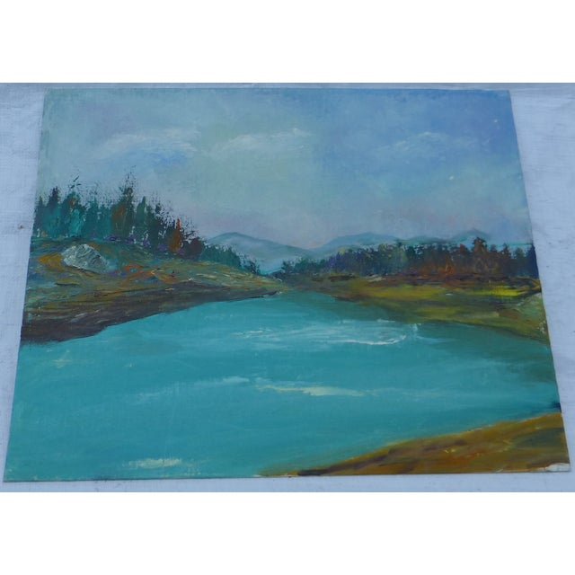 H.L. Musgrave Mid-Century Mountain Scene Painting - Image 2 of 6