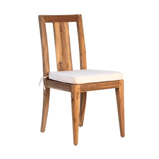 Simple Outdoor Teak Chair W/Cushion For Sale