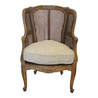 Antique French Child's Size Wingback Chair