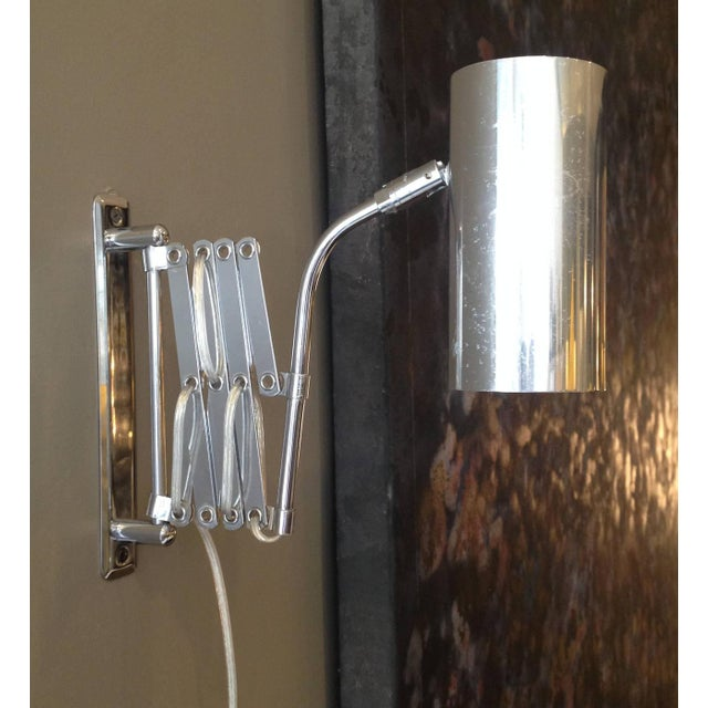 Industrial Style Koch and Lowy Accordion Sconce - Image 5 of 6