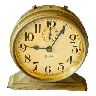 "Antique Chrome ""Westclox"" Big Ben Mechanical Alarm Clock"