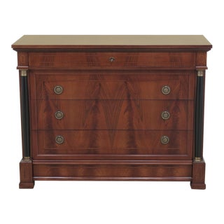 Decorative Crafts Italian Walnut Chest For Sale