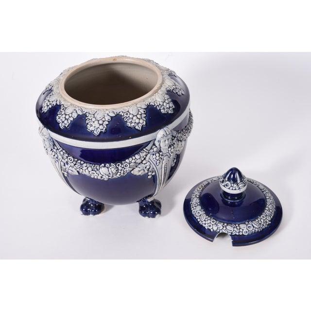 Blue German Porcelain Covered Decorative Piece For Sale - Image 8 of 10