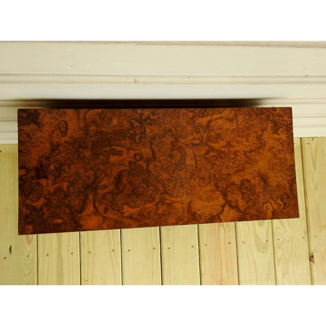 Wood Neoclassical Burl Walnut Table Top Display Cabinet For Sale - Image 7 of 11