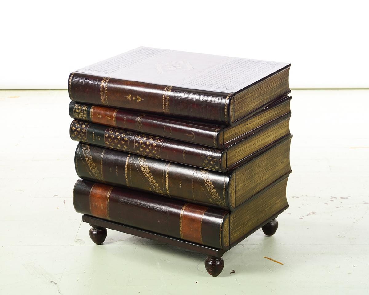 Maitland Smith Stacked Leather Books End Table   Image 2 Of 10