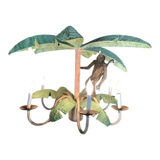 Mario Lopez Torres Monkey Palm Leaf Chandelier For Sale