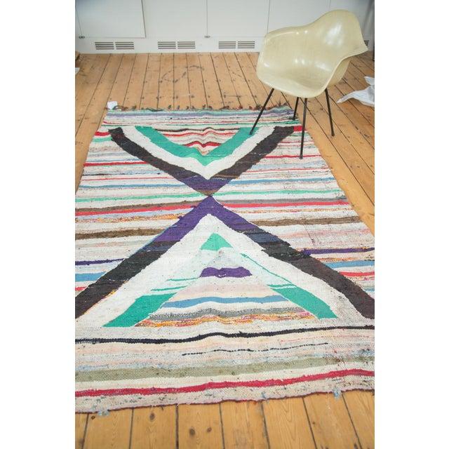 "Vintage Rag Rug Carpet - 5'1"" X 8' - Image 6 of 9"
