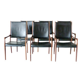 1960s Mogens Kold Model 'Mk 172' Dining Chairs - Set of 6 For Sale