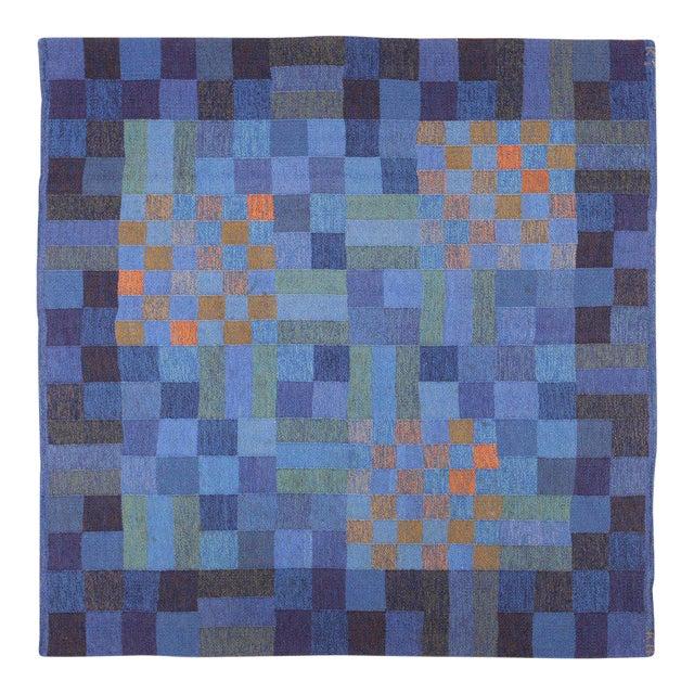 Vintage Scandinavian Square Rug by Karin Jonsson - 6′7″ × 6′7″ For Sale