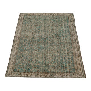 "Vintage Turkish Distressed Hand Knotted Rug - 8'6""x5'9"" For Sale"