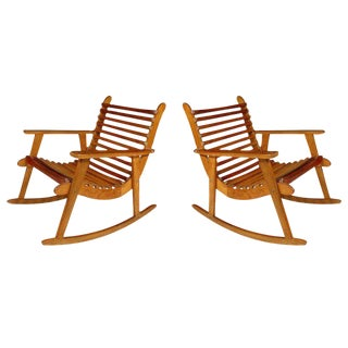 Michael Van Beuren Easy Rocking Chairs - A Pair For Sale