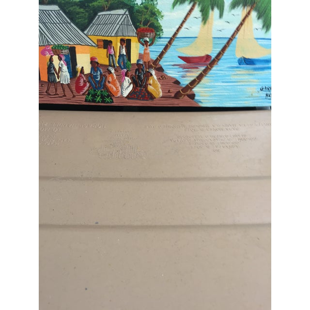 Colorful Signed Haitian Painting For Sale In Miami - Image 6 of 6