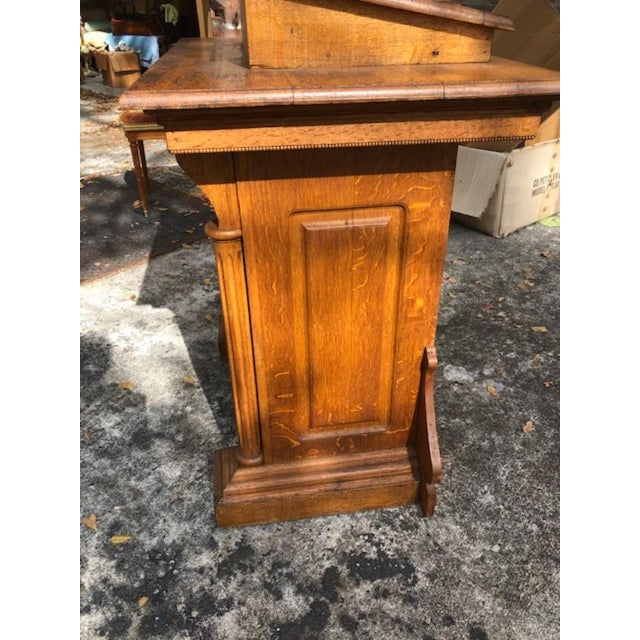 Gothic Antique Gothic Style Oak Church Lectern For Sale - Image 3 of 6