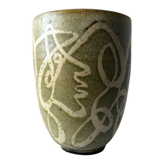 Early Ernst Alma Lorenzen Surrealist Canadian Profiles Vase For Sale