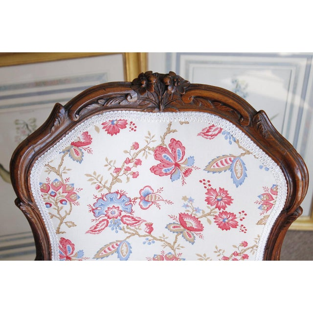 Mid 18th Century 18th Century French Provincial French Louis XV Fauteuil Arm Chairs - a Pair For Sale - Image 5 of 10